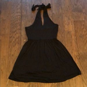Ann Taylor Loft Halter Dress sz XS Black